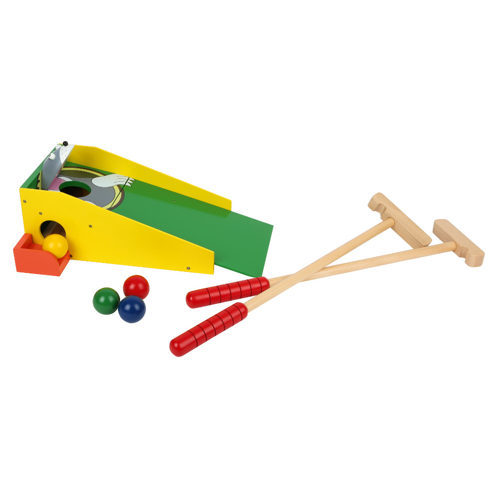 Minigolf in legno con racchette e palline