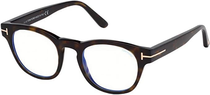 Tom Ford - Occhiale da Vista Donna, Dark Havana FT 5543-B  BLUE BLOCK  052  C48
