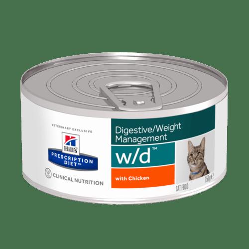 Hill's - Prescription Diet Feline - w/d - 156g x 6 lattine