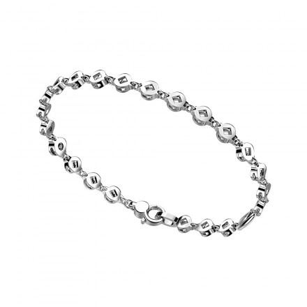 Bracciale Zancan ,in argento con maglie tonde a rombi.