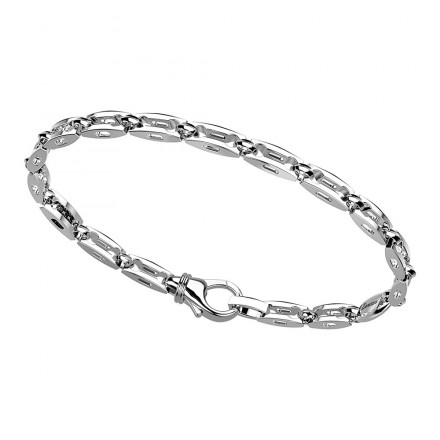 Bracciale Zancan,  in argento con maglie a foro congiunto.