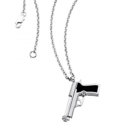 Collana Zancan,  in argento con pistola.