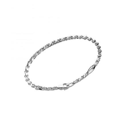 Bracciale Zancan,  in argento con maglie a coda di volpe.