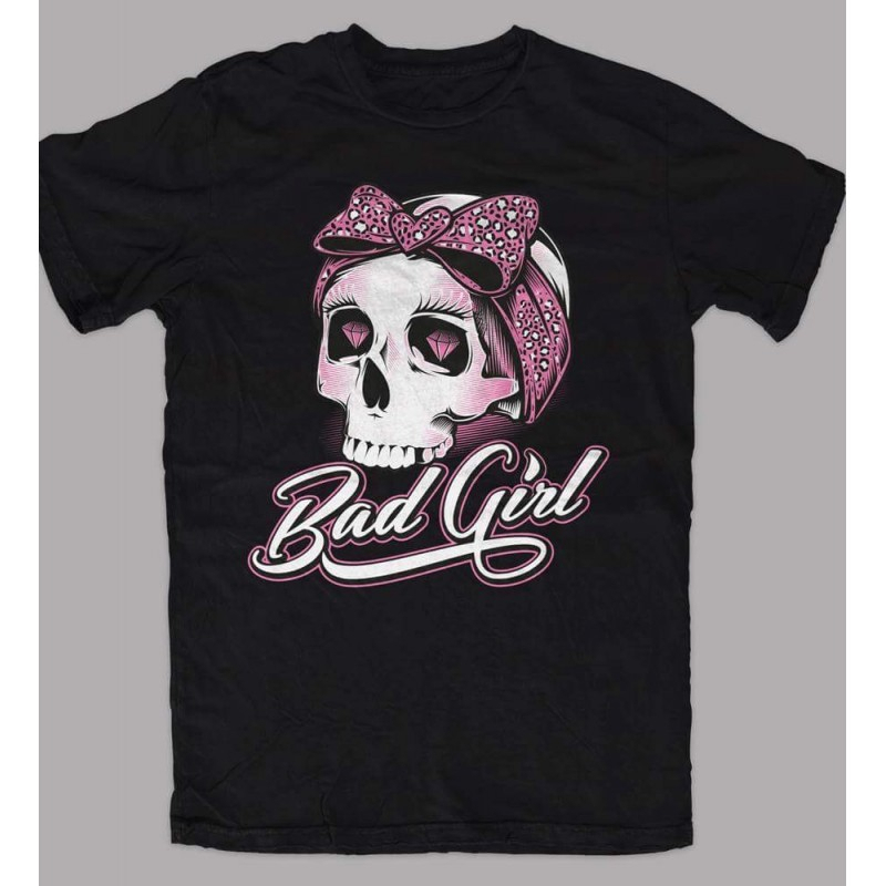 T-Shirt BAD GIRL for woman - Nera, Bianca e Rosa