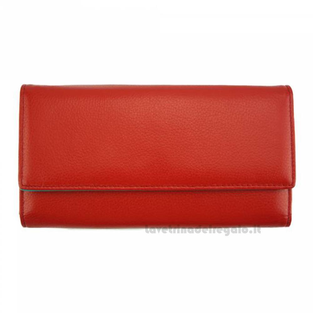 Portafoglio donna Rosso in pelle - Dianora M - Pelletteria Fiorentina