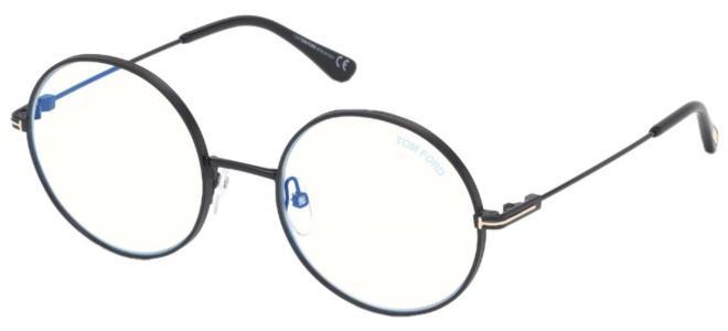 Tom Ford - Occhiale da Vista Unisex, Shiny Black FT 5595-B  BLUE BLOCK  001  C53