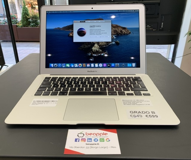 Apple MacBook Air 2012 - intel® i5 - 13