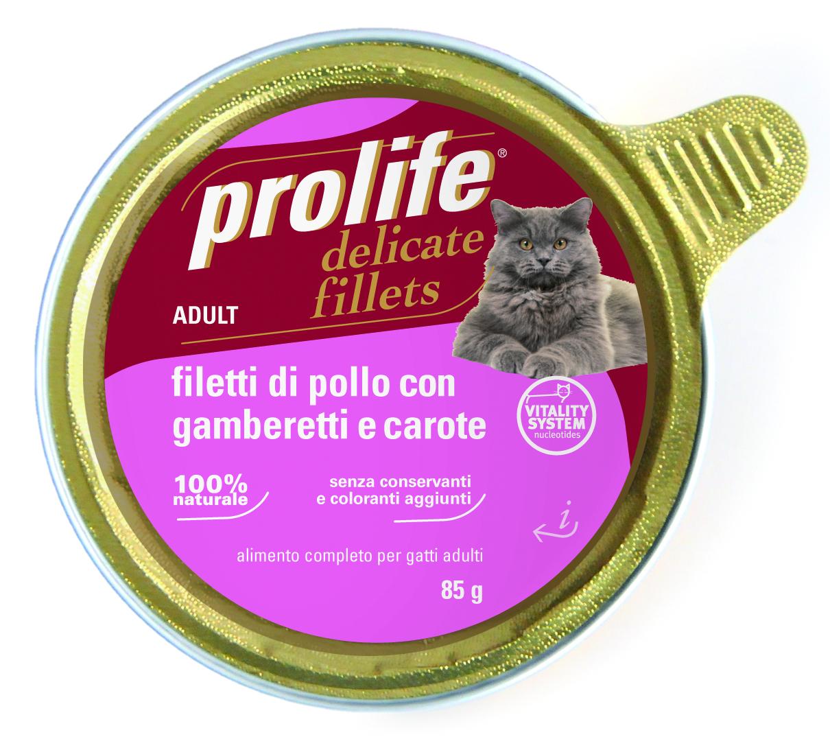 PROLIFE FILETTI DI POLLO GAMB CAROTE 85 GR.