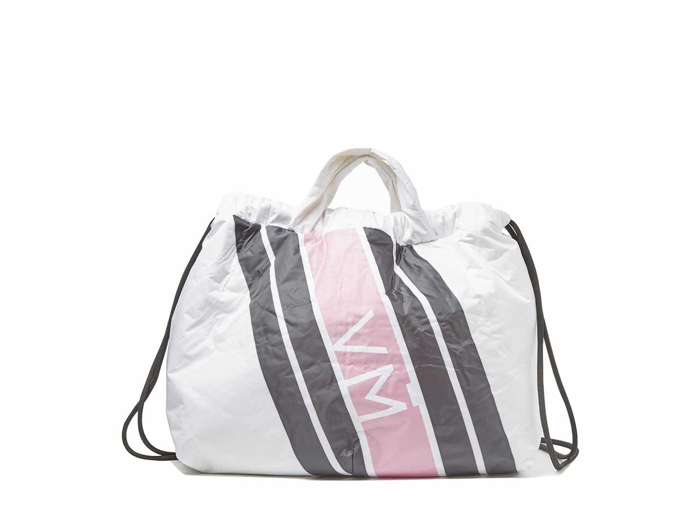 Maxi sacca in nylon con monogram Vic Matiè.