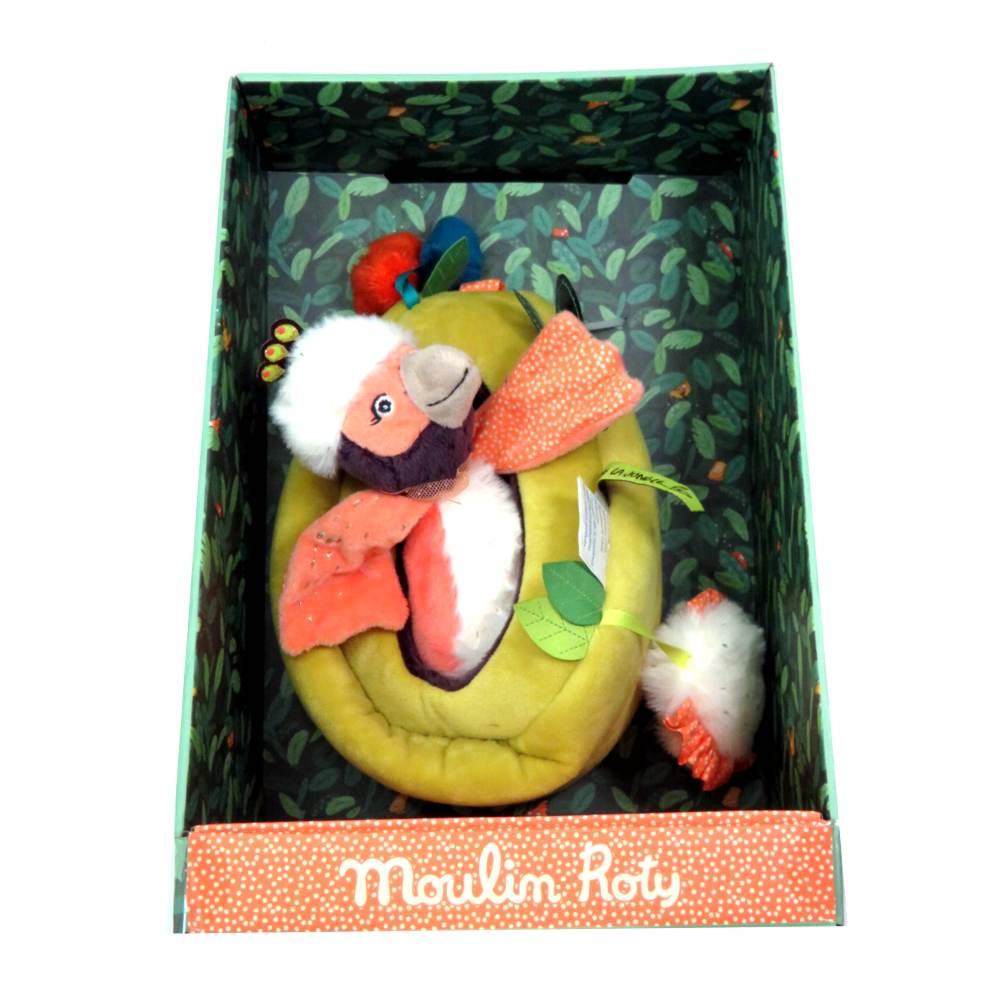 Nido con uccellini pupazzo attività di Moulin Roty