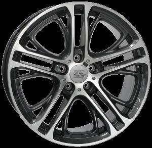 Cerchi in lega WSP Italy  W677        20''  Width 10.0   5x120  ET 51  CB 72,6    Diamond Black Polished