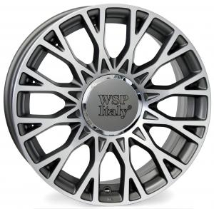Cerchi in lega WSP Italy  W162        15''  Width 6.0   4x98  ET 35  CB 58,1    Anthracite Polished