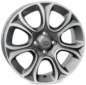 Cerchi in lega WSP Italy  W163        16''  Width 6.0   4x100  ET 45  CB 56,6    Anthracite Polished