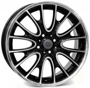 Cerchi in lega WSP Italy  W1653       18''  Width 7.0   4x100  ET 52  CB 56,1    Glossy Black Polished