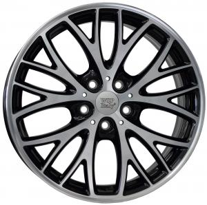 Cerchi in lega WSP Italy  W1658       18''  Width 7.0   5x112  ET 54  CB 66,6    Glossy Black Polished