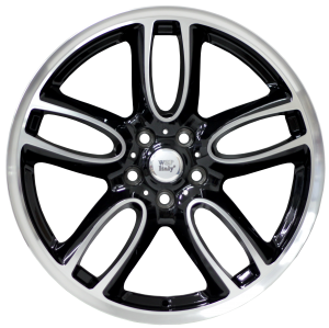 Cerchi in lega WSP Italy  W1654       19''  Width 8.0   5x112  ET 47  CB 66,5    Glossy Black Polished