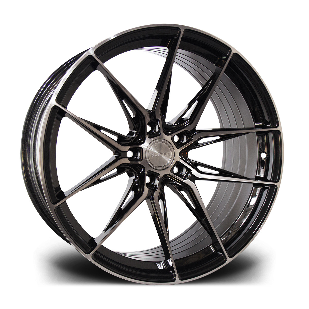 Cerchi in lega  Riviera  RF107  20''  Width 11   5X112  ET 28  CB 73.1    Black Polished Dtint
