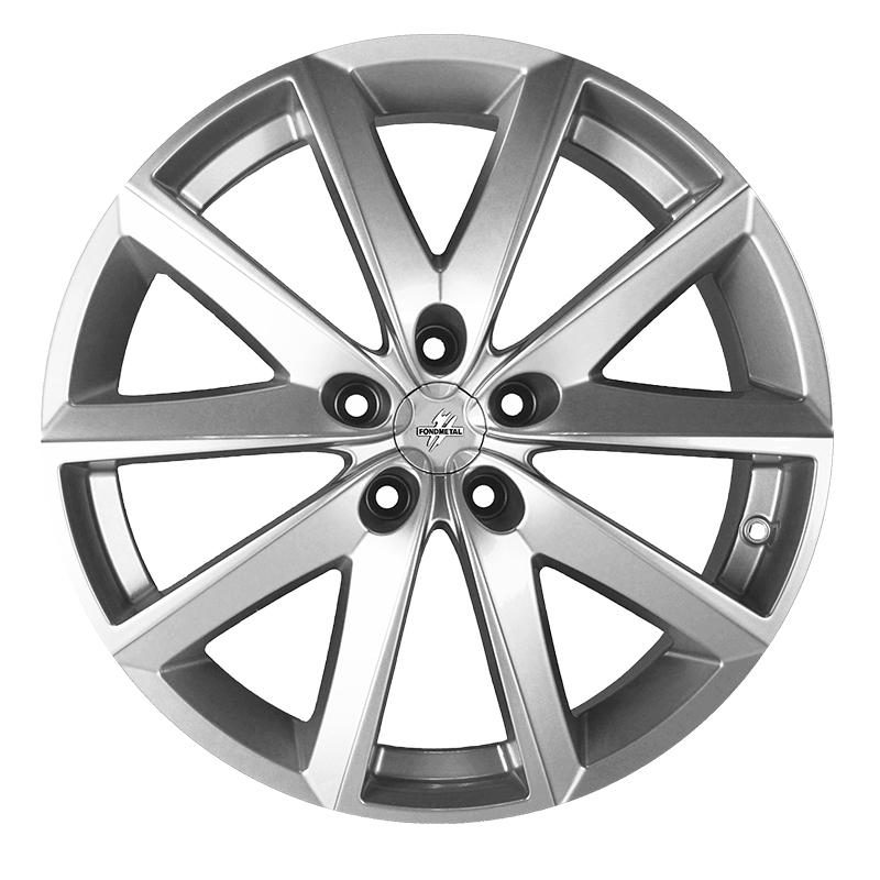Cerchi in lega  Fondmetal  7600  17''  Width 7.50   5x100  ET 35.00  CB 67.2 Ring Seat    Glossy Silver