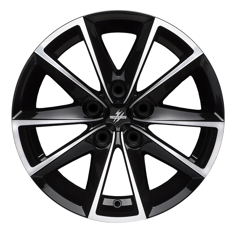 Cerchi in lega  Fondmetal  7600  17''  Width 7.50   5x100  ET 35.00  CB 67.2 Ring Seat    Glossy Black Machined