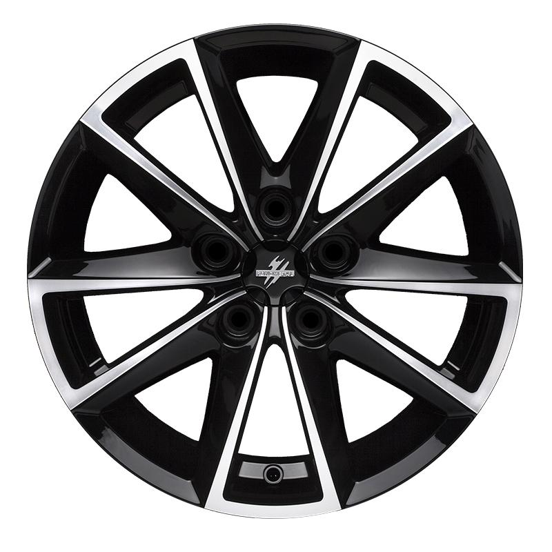 Cerchi in lega  Fondmetal  7600  17''  Width 7.50   5x108  ET 35.00  CB 67.2 Ring Seat    Glossy Black Machined
