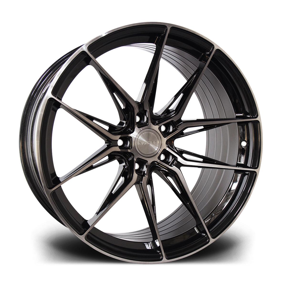 Cerchi in lega  Riviera  RF107  20''  Width 8.5   5x120  ET 35  CB 72.6    Black Polished Dark Tint