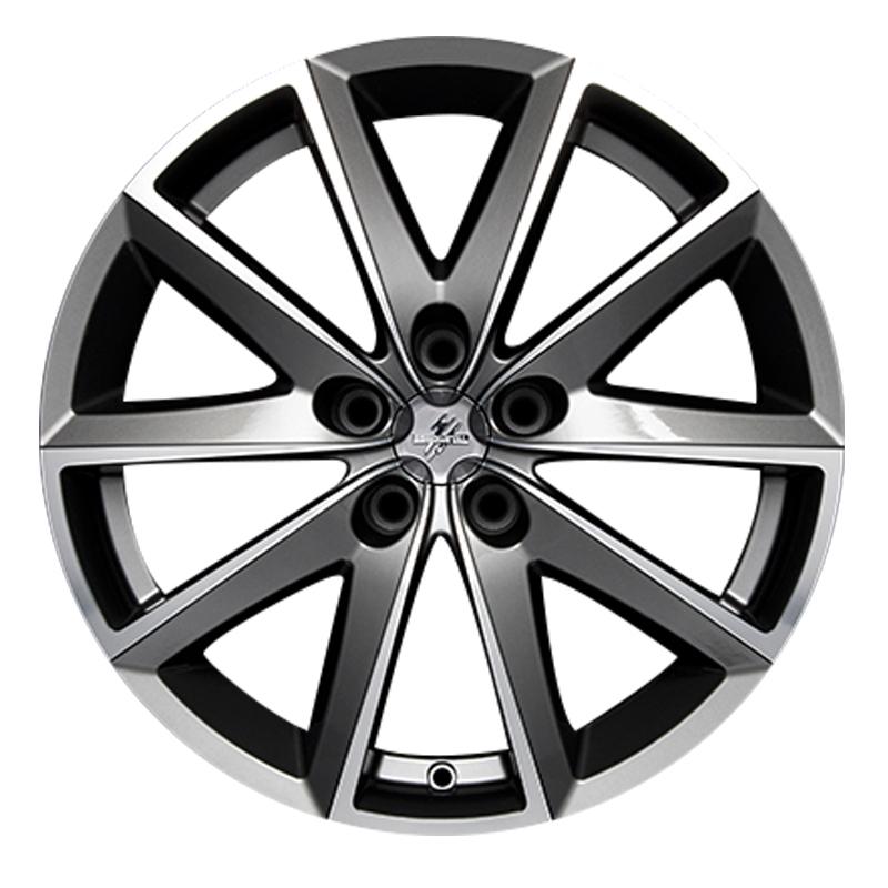 Cerchi in lega  Fondmetal  7600  17''  Width 7.50   5x112  ET 35.00  CB 67.2 Ring Seat    Glossy Titanium Machined