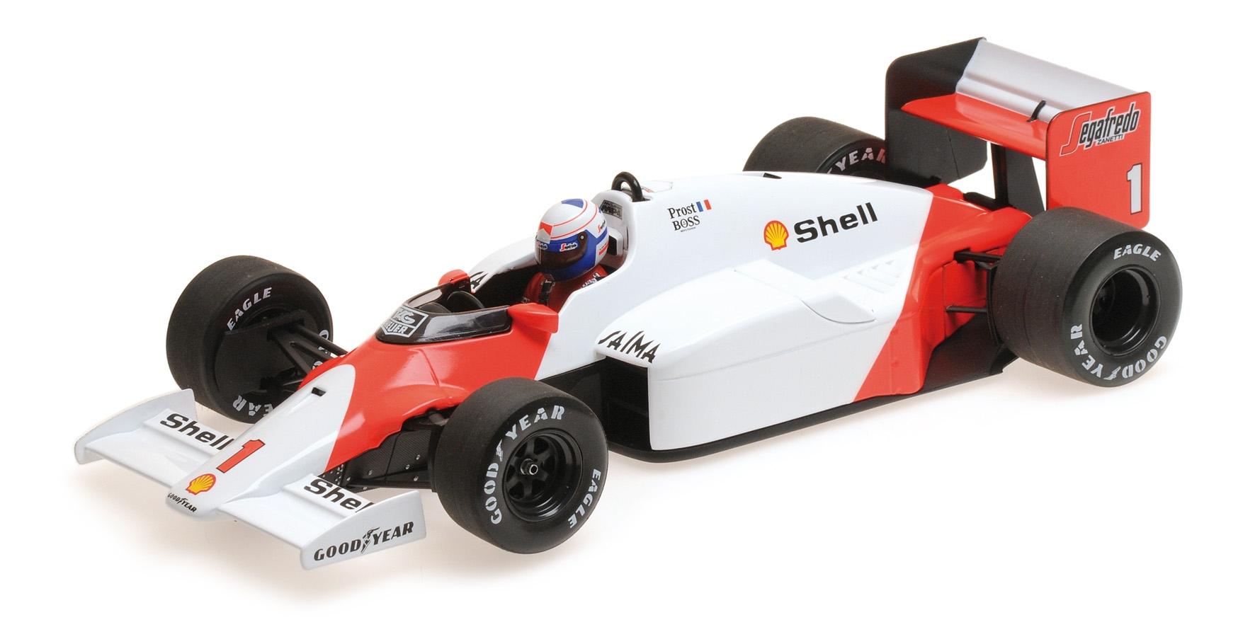 McLaren TAG MP4/2C Alain Prost World Champion 1986 1/18