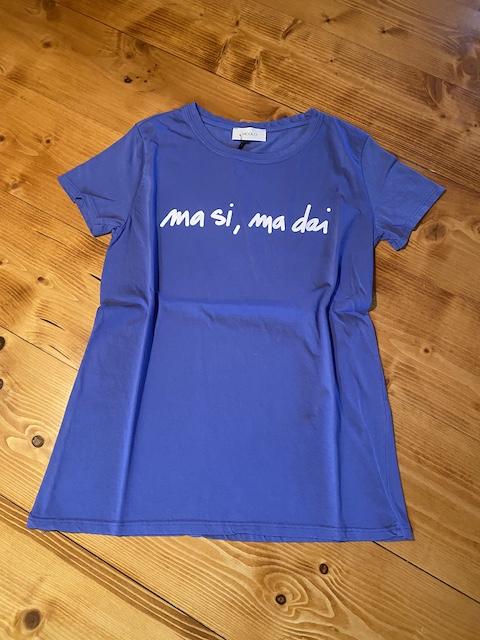 T-shirt Vicolo stampa Ma Si Ma Dai