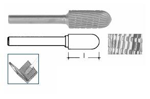 Fresa rotativa semisferica HSS mm 15 Ineco