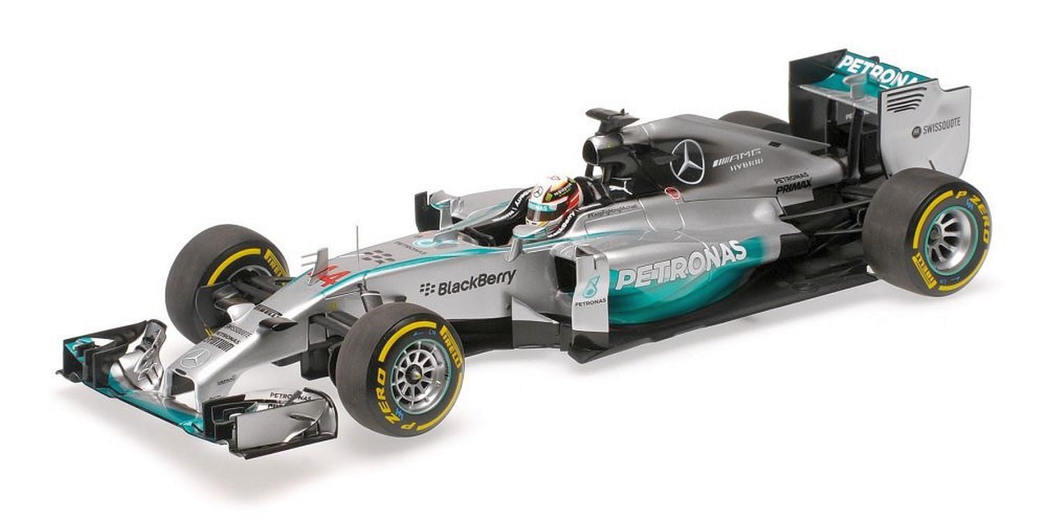 Mercedes AMG Petronas F1 Team Louis Hamilton Winner Abu Dhabi World Champion 2014 1/18