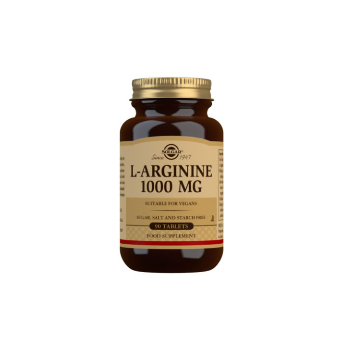 Solgar L-Arginine 1000 mg Tablets - Pack of 90