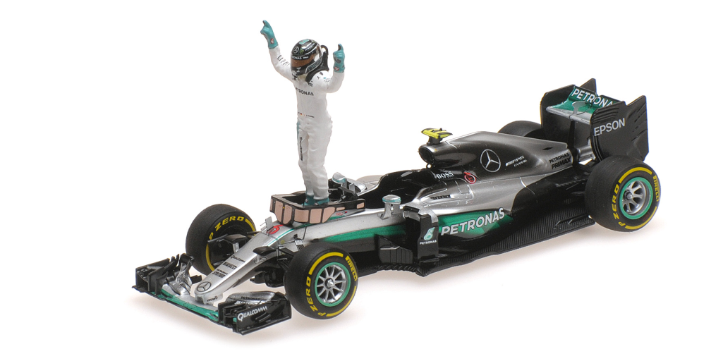 Mercedes AMG Petronas Motorsport F1W07 Hybrid Nico Rosberg Abu Dhabi GP World Champion 2016 1/43