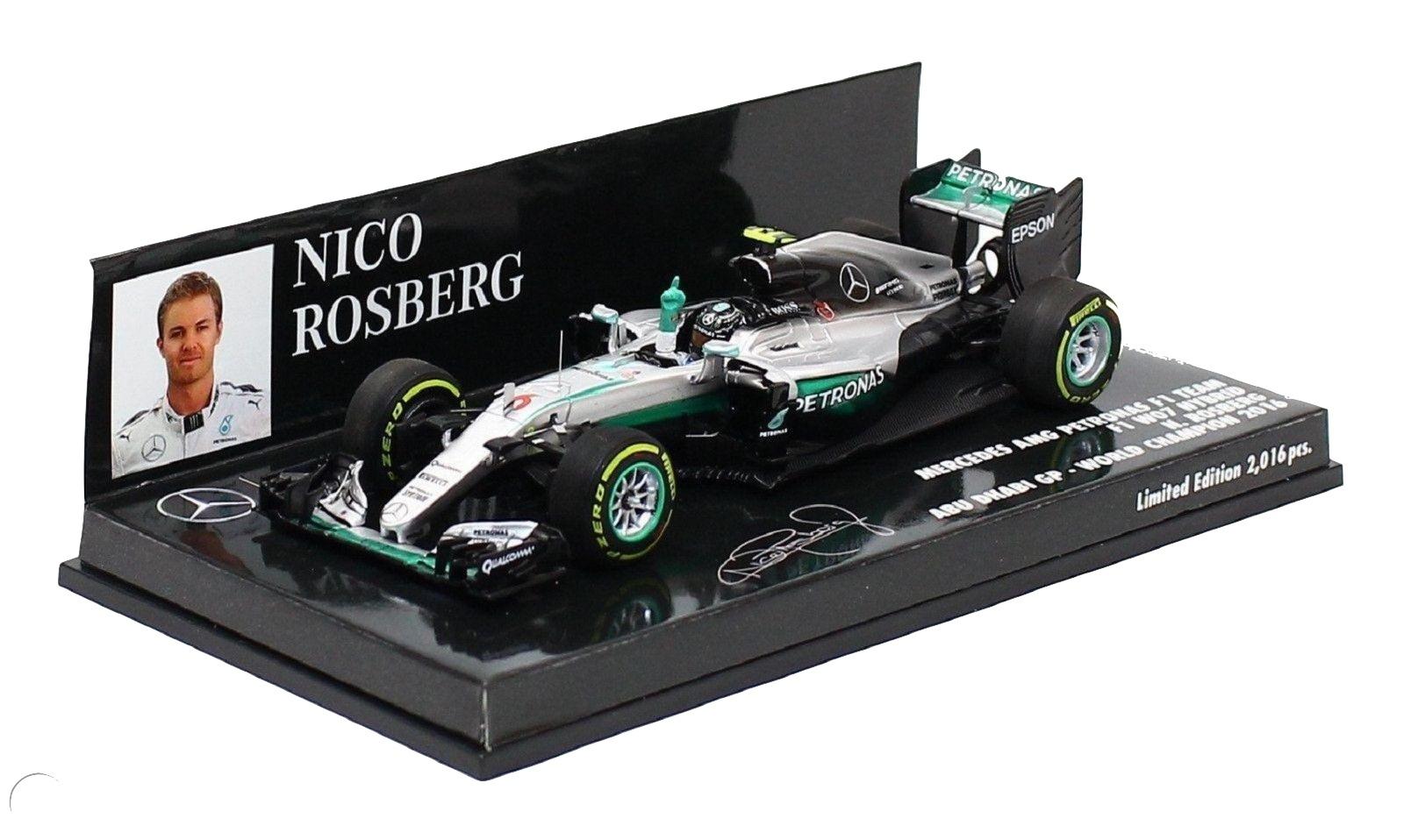 Mercedes AMG Petronas F1 Team F1W07 Hybrid Nico Rosberg Abu Dhabi GP World Champion 2016 1/43