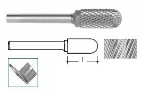 Fresa rotativa semisferica in Metallo Duro mm 16 Ineco