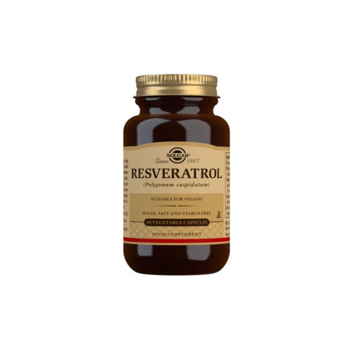 Solgar Resveratrol 100 mg Vegetable Capsules - Pack of 60