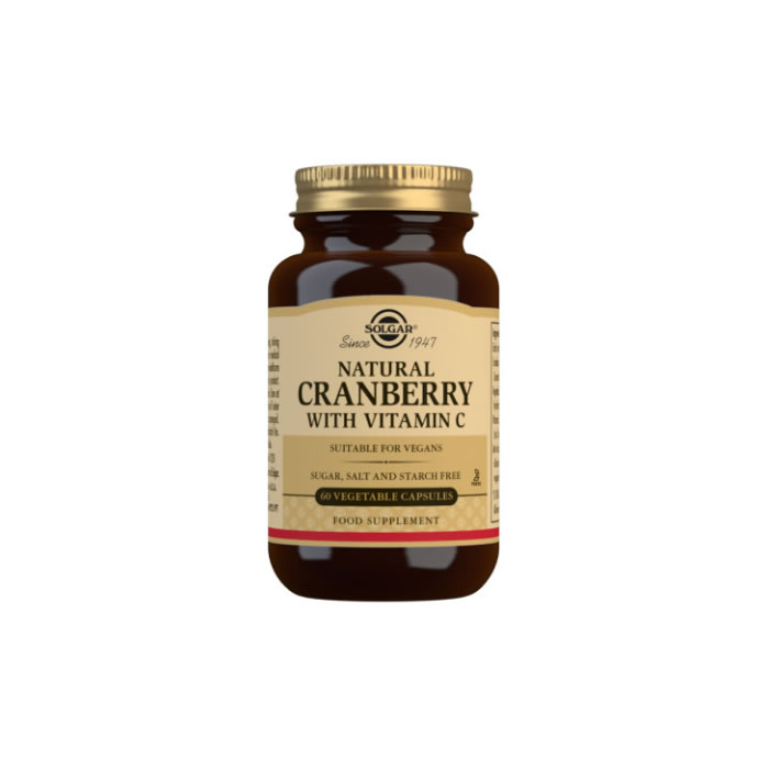 Natural Cranberry with Vitamin C Vegetable Capsules - Pack of 60