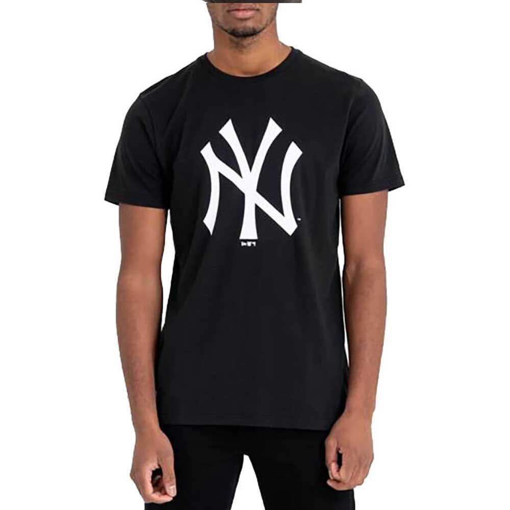 New Era T Shirt Black Logo da Uomo