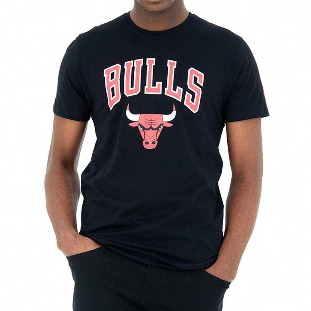 New Era T Shirt Black Bulls da Uomo