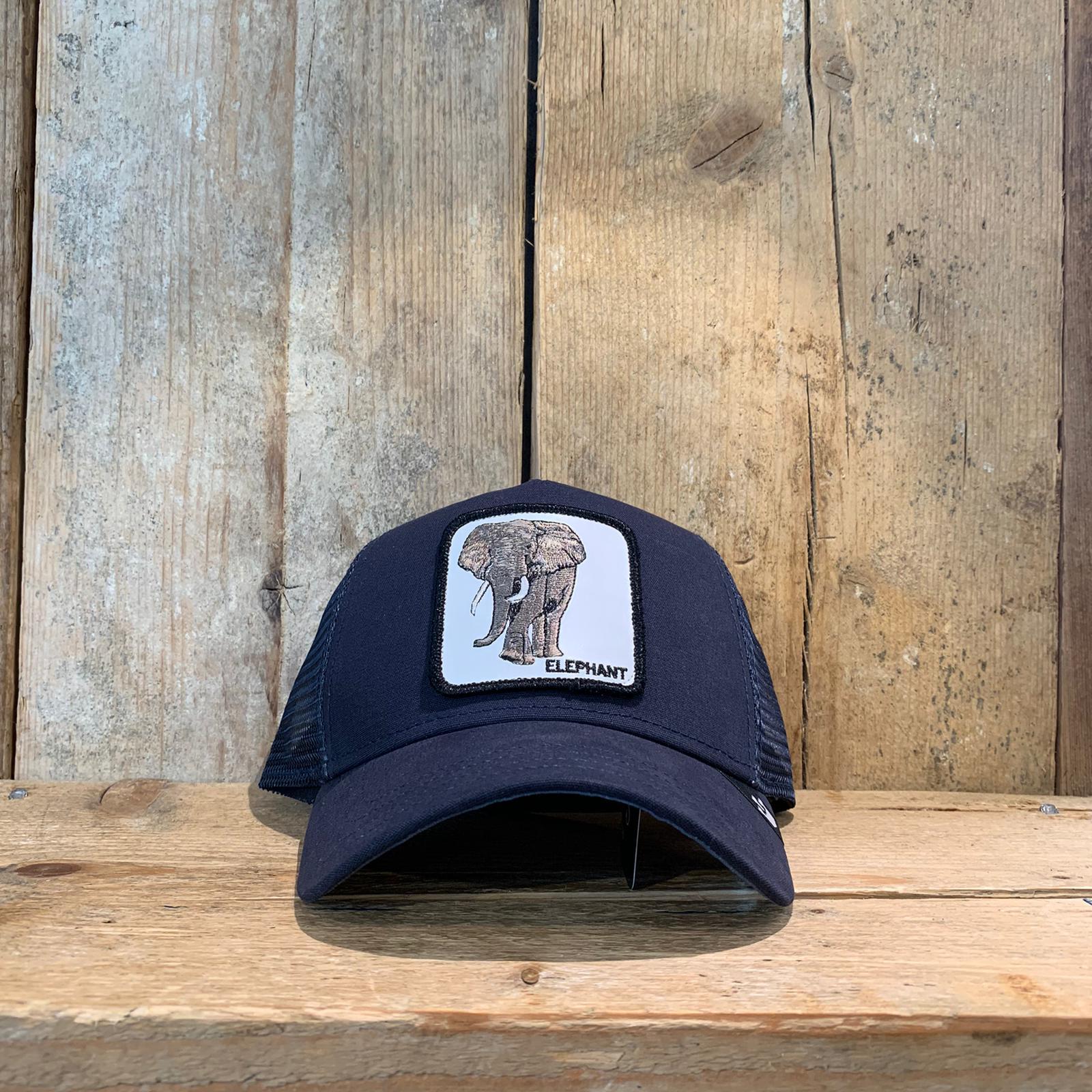 Cappellino Goorin & Bros con Elefante Blu Scuro
