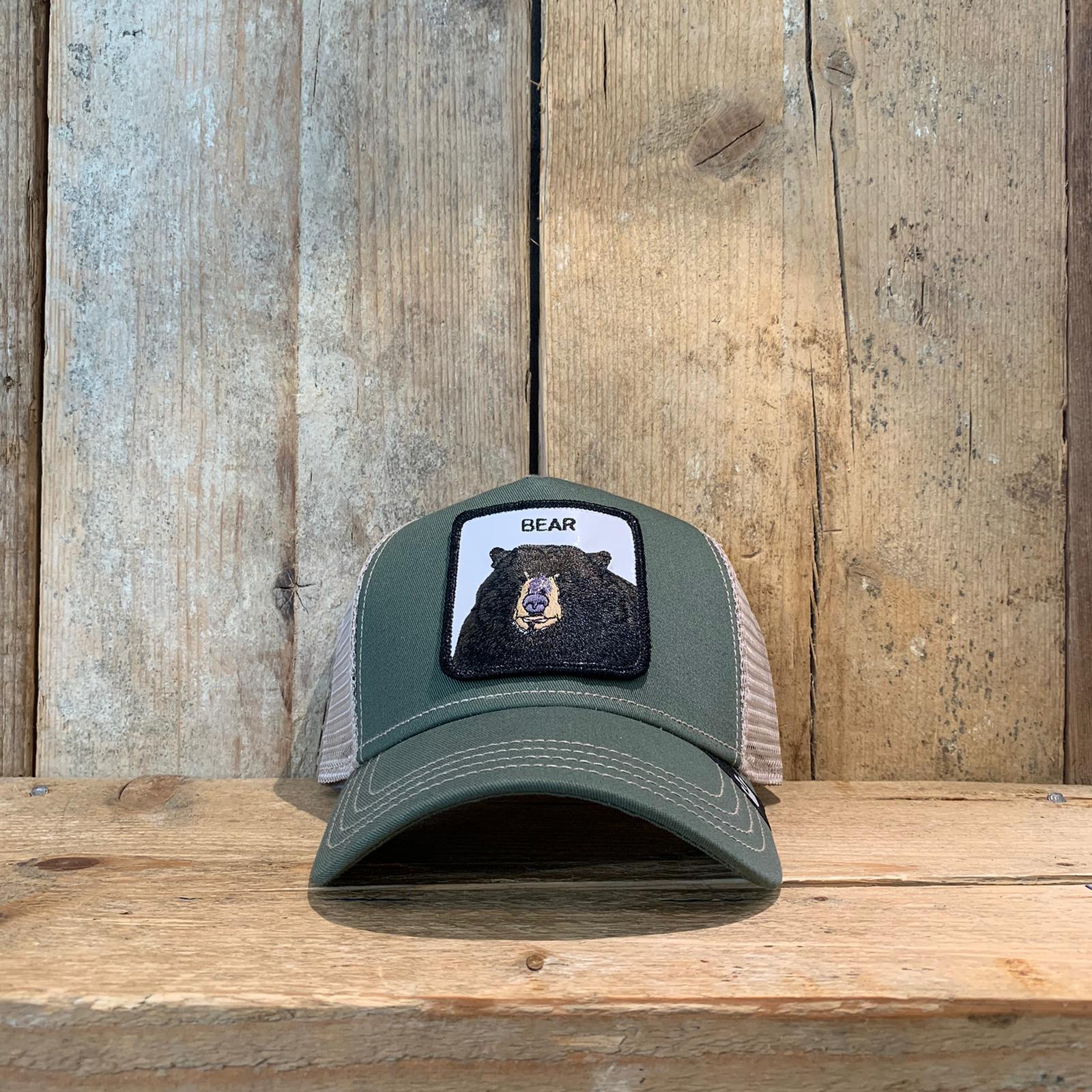 Cappellino Goorin & Bros con Orso Verde Militare e Beige