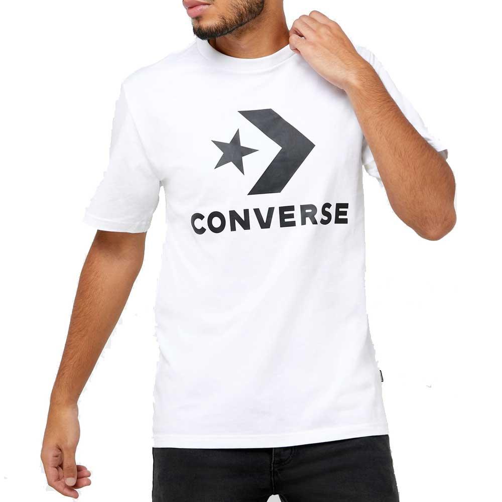 Converse T Shirt White Logo da Uomo