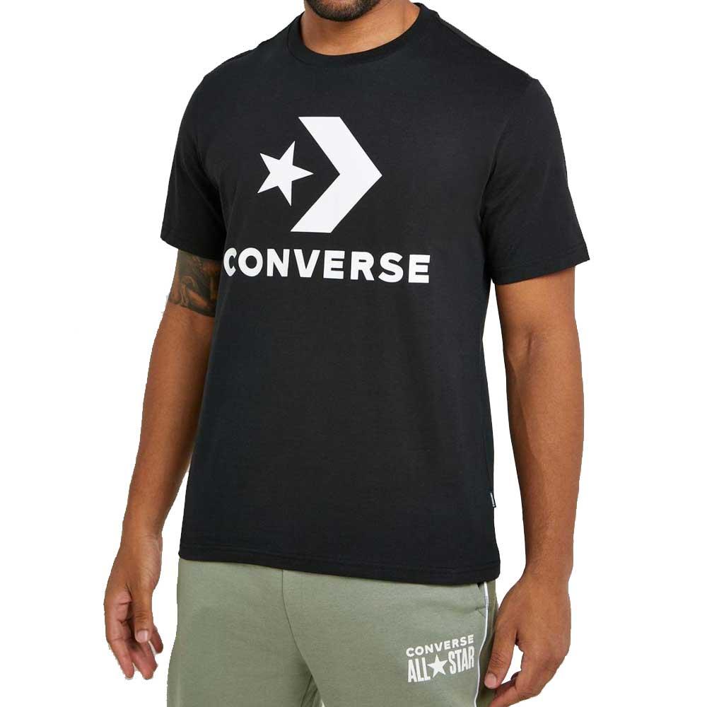 Converse T Shirt Black Logo da Uomo