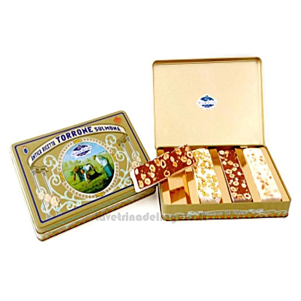 Torroni assortiti in scatola regalo 400gr William Di Carlo Sulmona - Italy