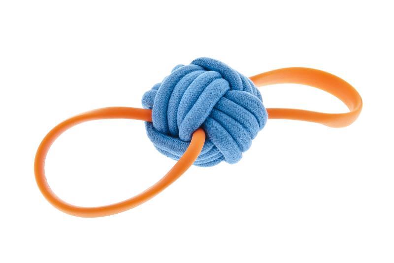 Gioco palla per cani  BOUNCE  con corda in tpr Ferribiella
