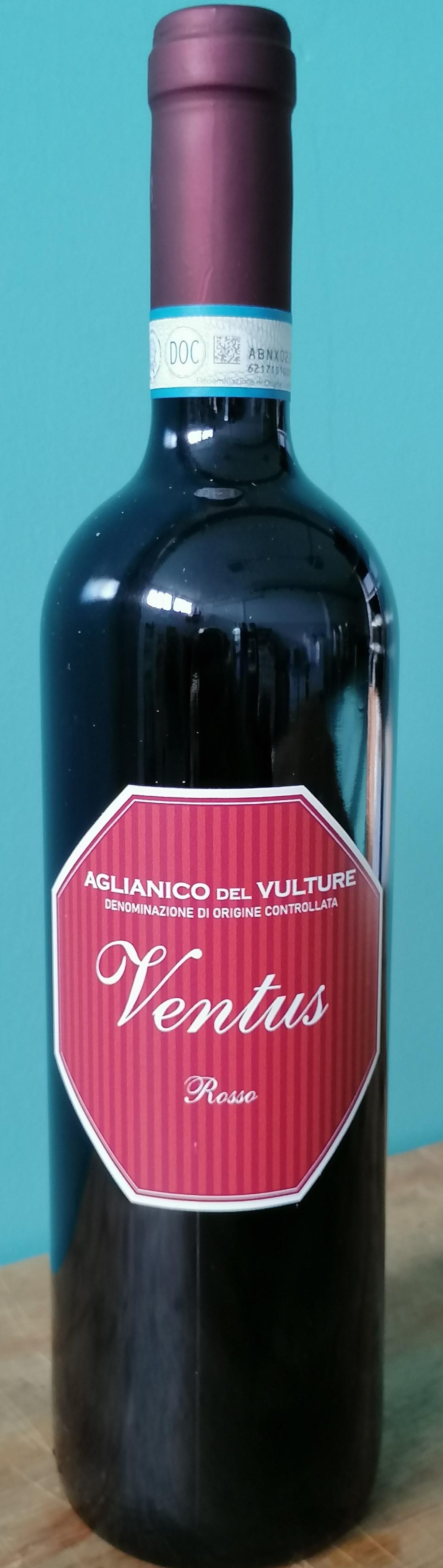 AGLIANICO DEL VULTURE DOC - VENTUS - ANNATA 2017 - Vol. 13.50%