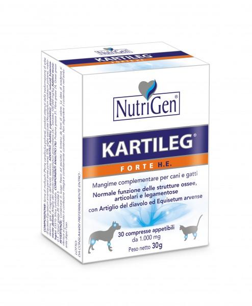 Kartileg Forte HE  Cani e gatti  per articolazioni, strutture ossee e legamentose  60 compresse Nutrigen