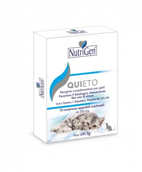 Quieto per  gatto per il rilassamento nei casi di stress 10 compresse  Nutrigen