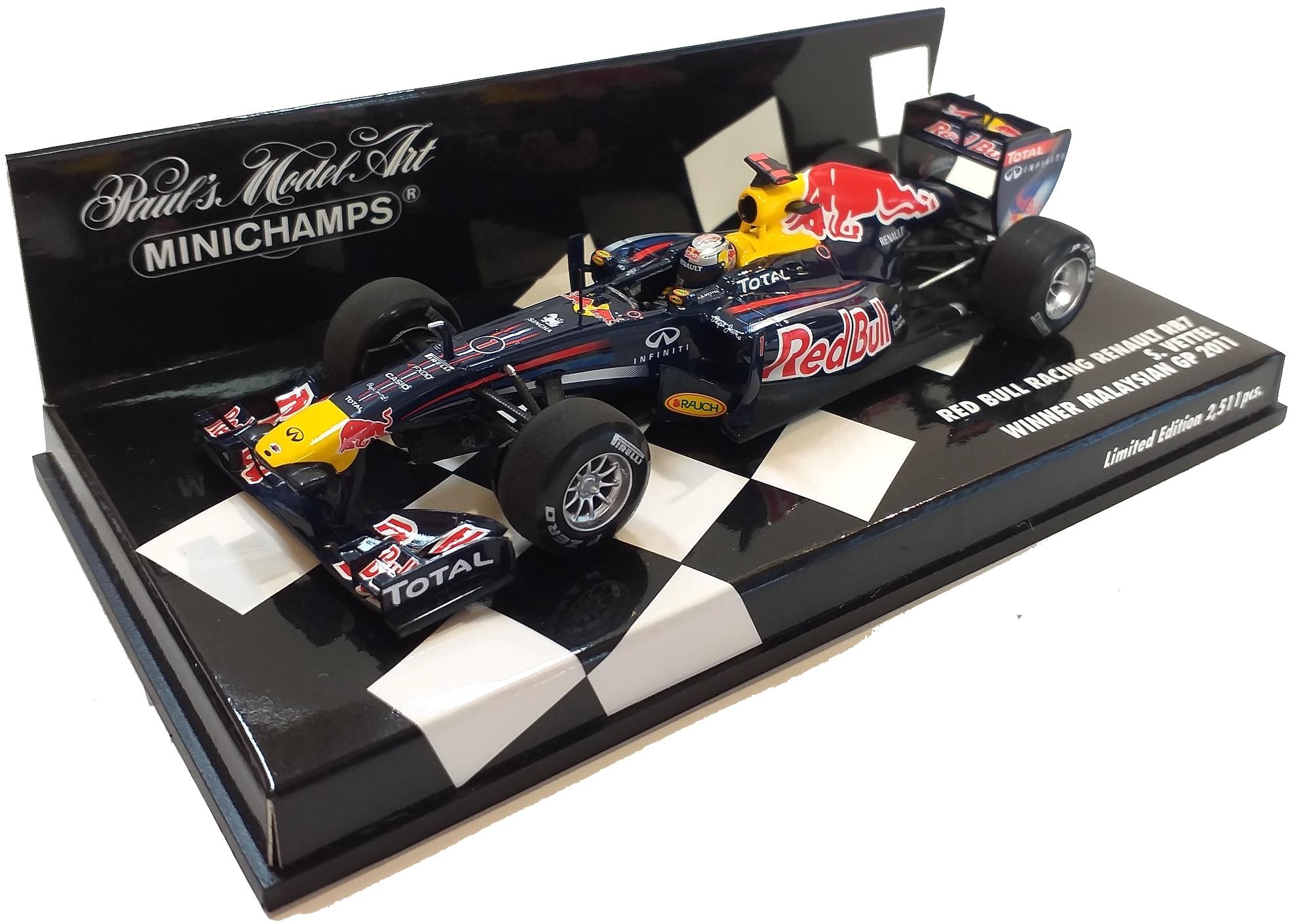 Red Bull Racing Renault RB7 Malaysian Gp Sebastian Vettel 2011 1/43