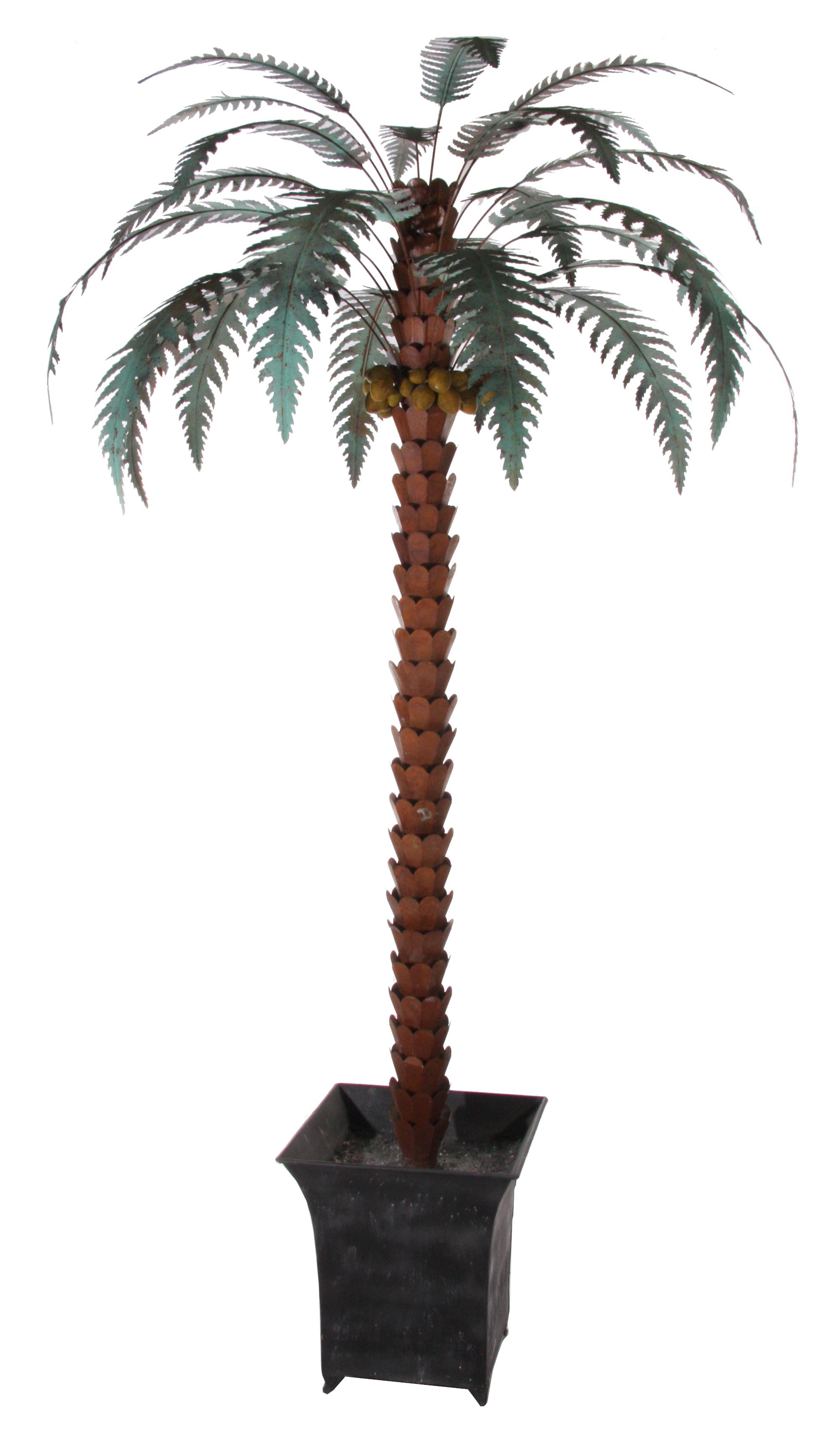 Palma in ferro , decorata a mano .