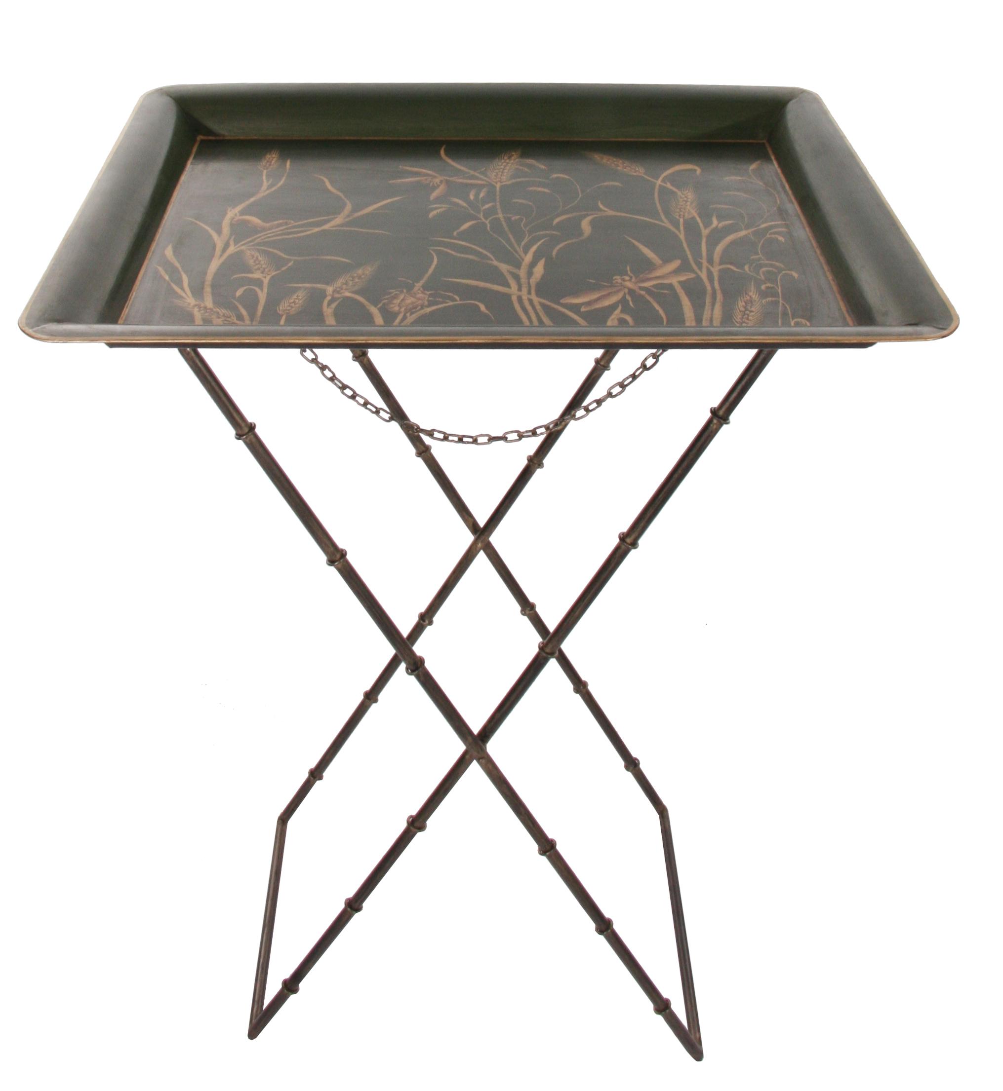 Tavolino in ferro dipinto
